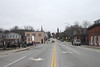 Looking west along Main Street with River Street on the left and the Woman's Club spire in the distance and some of the Jaffrey Mills on the right. March 27, 2016.