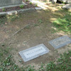 Cather and Lewis markers, Cather gravesite, August 4, 2013.
