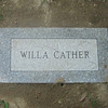 Newly installed Willa Cather marker, Cather gravesite. August 4, 2013.