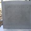 Willa Cather's gravestone after powerwashing, April 29, 2014.