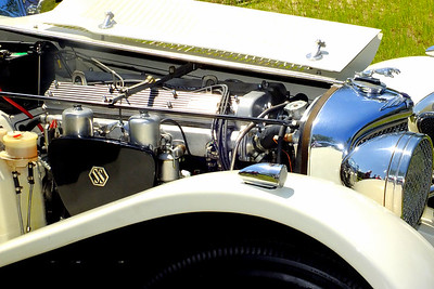 As in all Suffolk 'SS' replicars , this is an authentic Jaguar engine, probably from a 1950s XK 120, 140 or 150.