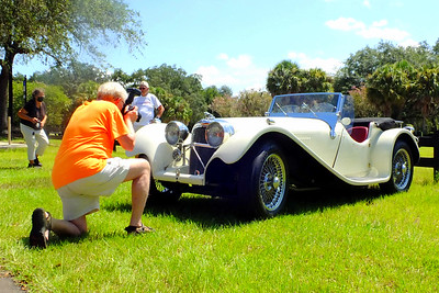 John and Lynette Suttons' SS 100 replica was a favorite of photographers at The Villages Photo Shoot.