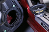 """Left: Speaker adapter  from  <a href=""""http://www.car-speaker-adapters.com/items.php?id=SAK043""""> Car-Speaker-Adapters.com</a>  installed on door <br> Right: Aftermarket speaker"""