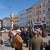 Den Brunnen am Hauptplatz schmückte eine Statue Dietmar des Anhangers (Getreuen)