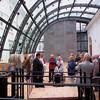 """Seit 1958 wird der Festsaaltrakt als Kongresszentrum von der Hofburg Kongresszentrum & Redoutensäle Betriebsgesellschaft genutzt. 2005 wurde der sogenannte """"Kesselhaushof"""" überdacht und in einen Konferenzsaal umgewandelt.(Bild)"""