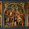Der Altar ist nicht datiert, auch die Herkunft und der Meister sind nicht gesichert. Als Künstler wird Veit Stoss bzw. dessen Werkstatt vermutet. Der Altar entstand um 1498 und fand zunächst in einer Kapelle des romanischen Domes Aufstellung. Als dieser Dom gegen 1400 abgerissen wurde geriet er wahrscheinlich zunächst in private Hände und kam später ans Kloster, wo er zunächst die Filialkirche in Scheffau und ab 1885 die Johanneskapelle ziert. Im zentralen Teil sehen wir Maria und Johannes den Täufer mit dem Jesusknaben, etwas abseits der hl. Joseph. Links wird die Verkündigung und die Anbetung durch die hl. drei Könige dargestellt, rechts der Marientod und darunter die eher seltene -weil undokumentierte- Darstellung der Begegnung Mutter und Sohn im Rahmen der Passion Christi.
