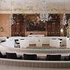 """Der schlichte Sitzungssaal der steiermärkischen Landesregierung, die """"Landstube"""""""