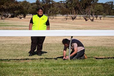 20171014: Manangatang: 100th Manangatang Cup Day. Jaime Murcia prepares to photograph race 6