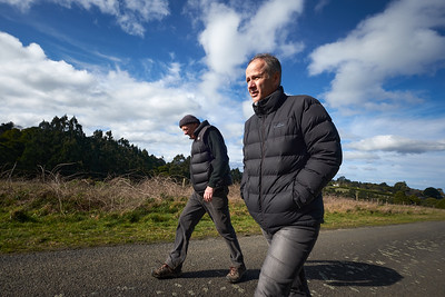 20150811: Kallista, Vic: Renowned photographers Andrew Chapman (l) and Jaime Murcia (r) spotted recently on a stroll on a Kallisata back road.