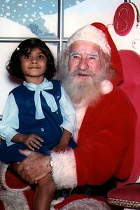 Jain Child Visiting Santa Claus (United States)