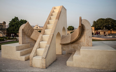 Jantar Mantar in Jaipur, Rajasthan is a UNESCO world heritage structure and the first astronomy laboratory in India with instruments to do various astronomical measurements.