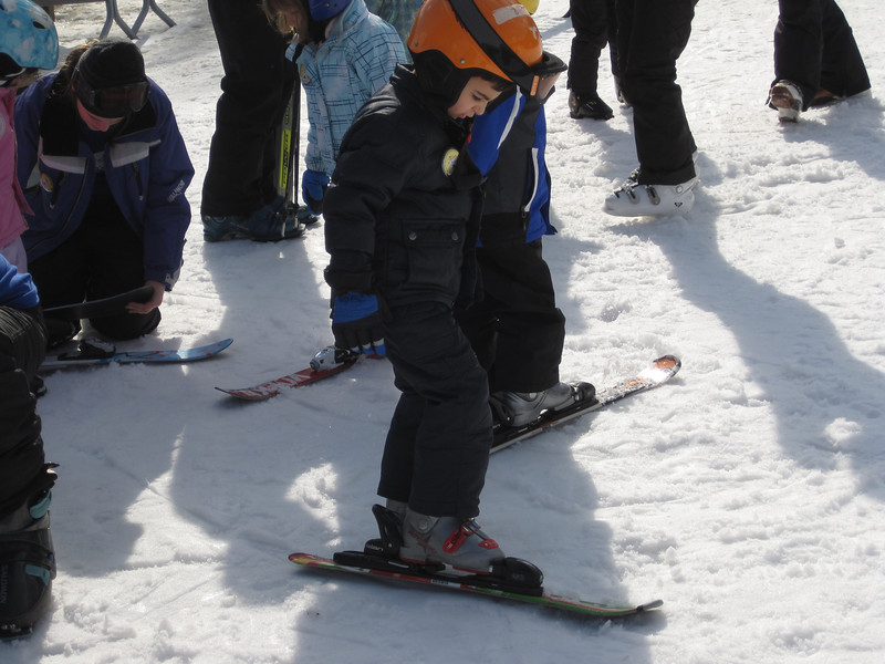 Jake is about to learn how to ski<br /> Age 5 1/2 - February 22, 2012