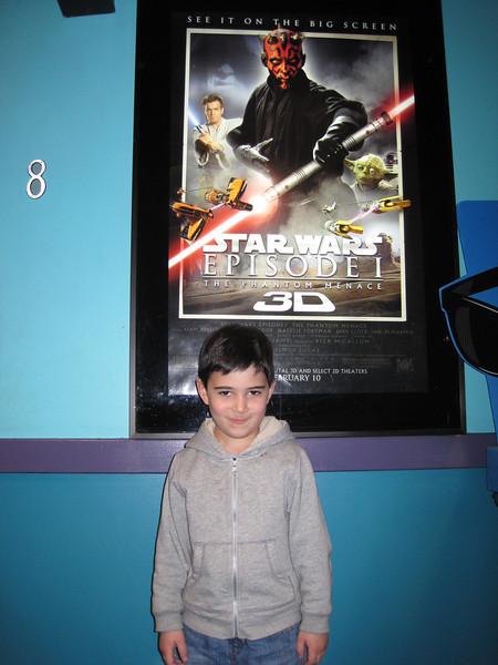 Phantom Menace in 3D - February 19, 2012<br /> Jake age 5 1/2