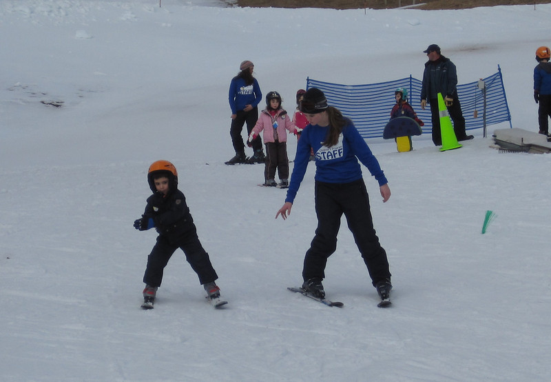 learning to Ski @ Mount Sunapee<br /> February 22, 2012 (age 5 1/2)