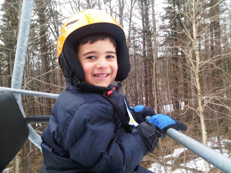 Jake on his 1st Chair lift!<br /> Mount Sunapee - February 24, 2012
