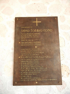 It Is Dedicated, Of Course, To Santo Toribio Romo