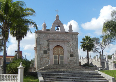 The End Of The Walkway Features An Old Capilla Dedicated To The Saint