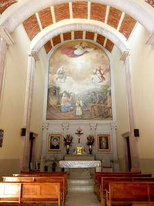 The Interior Of The Old Capilla