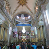 The Interior Of The Basilica Filled With Hundreds Of Pilgrims