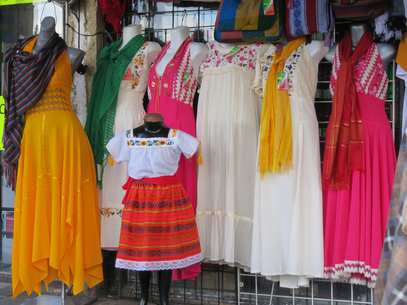 0df2b118fda Shops Around The Civic Plaza With Authentic Mexican Dresses And Shawls
