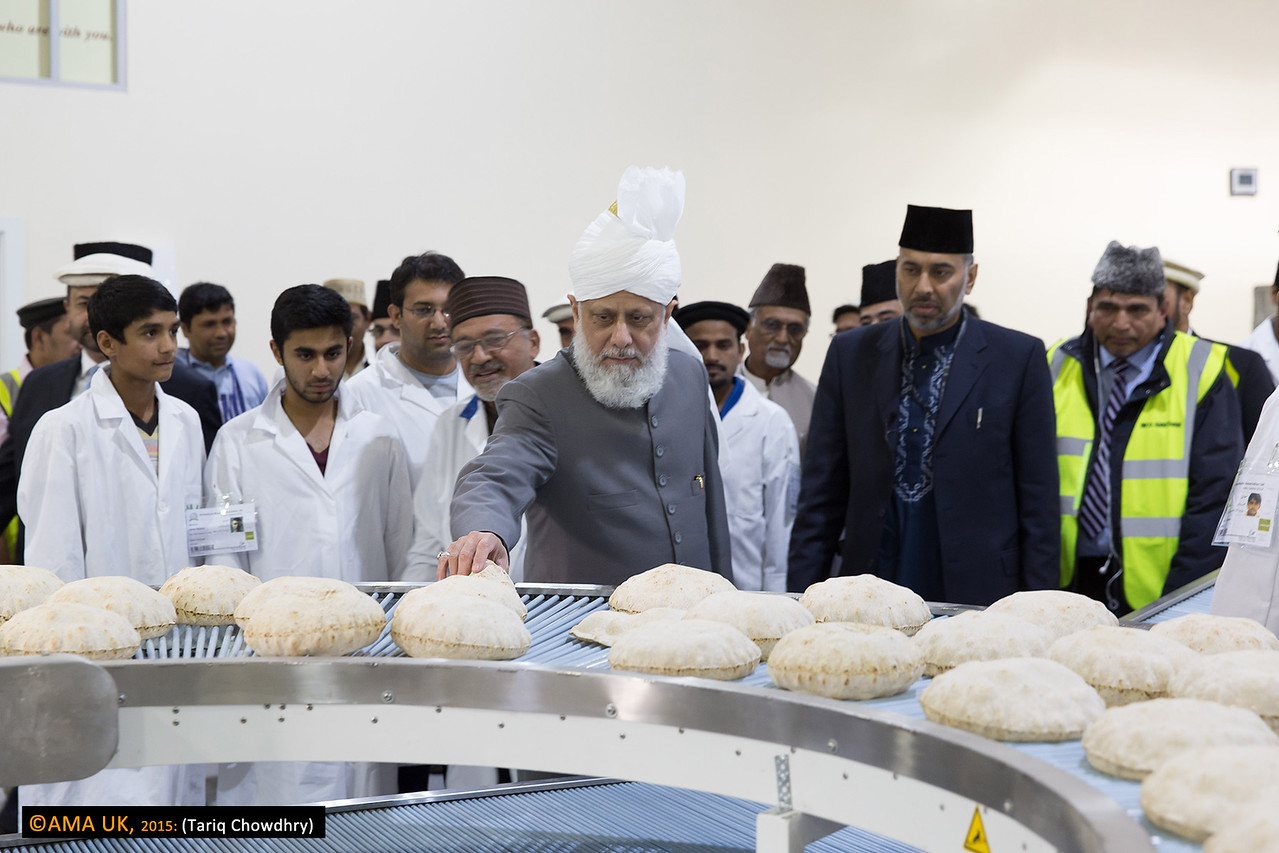 Inspection at the roti making plant