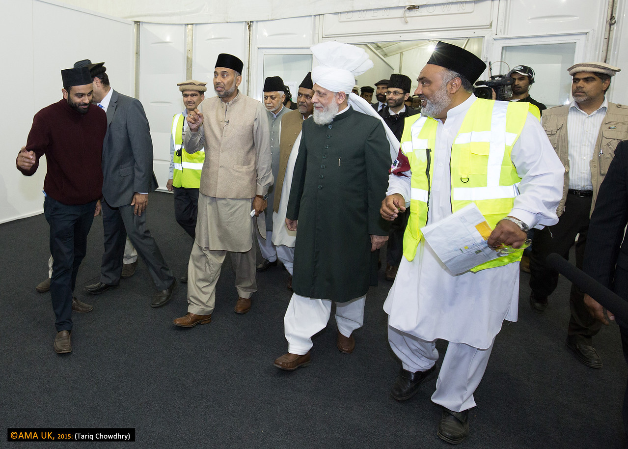 Huzur inspecting in the MTA UK compound
