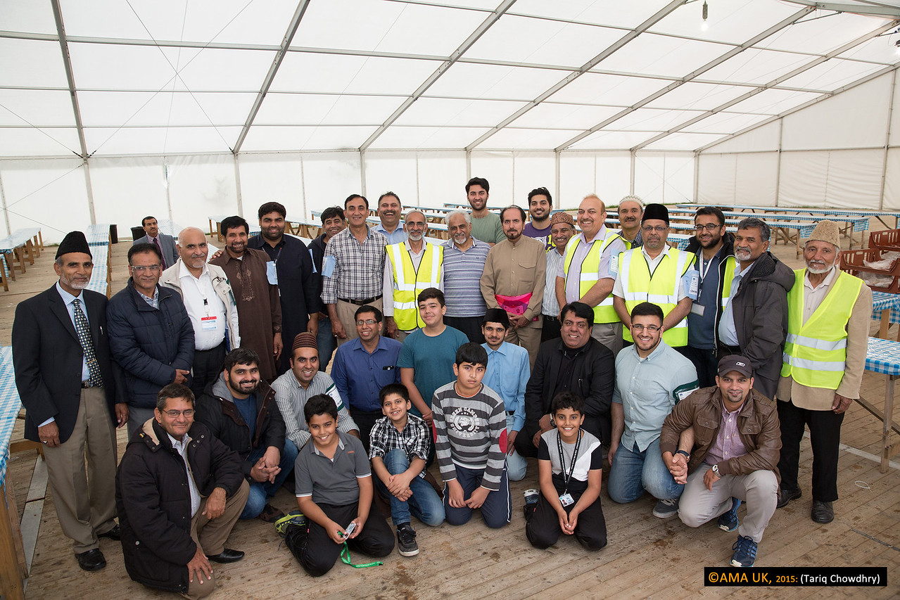Most of these guys assisted in the feeding of the thousands of volunteers