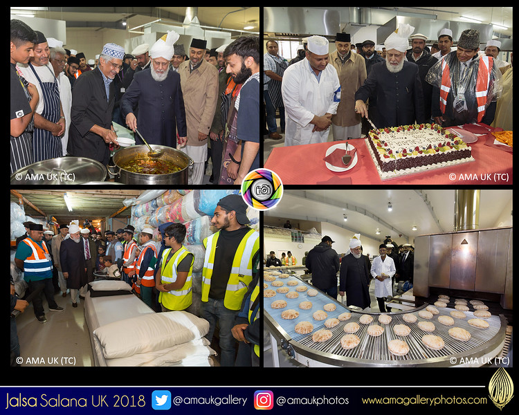 Huzur Aqdas (aba) on an extensive tour of the Jalsa site on Sunday 29 July where he met many of the volunteers (there are over 5000 in total). The Inauguration & Inspection Day is a very special moment for the dedicated workers. May God bless all the hard work they do. #JalsaUK