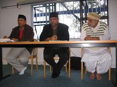 Sadr Sahib Presiding Jalsa Meeting