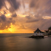 Sunrise at Royal Decameron Club Caribbean Hotel in Runaway Bay , St Ann, Jamaica.