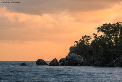 Sunrise on the Caribbean Sea at Port Antonio, Jamaica