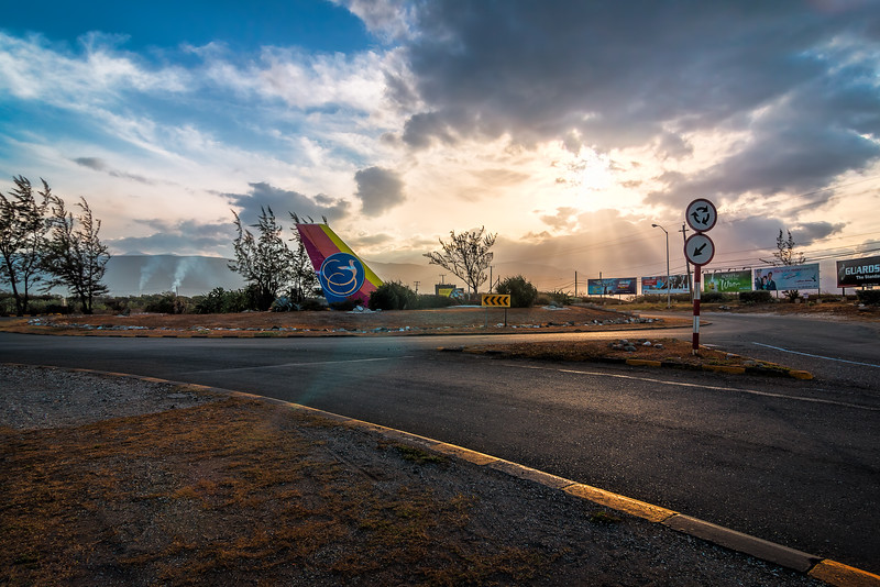 Early morning at Palisadoes Roundabout in Kingston, Jamaica.
