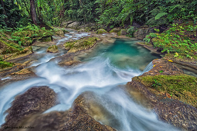 Driver's River in the John Crow Mountains near Port Antonio, Jamaica