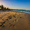 A gorgeous sunset on the beach in Long Bay, Portland, Jamaica.