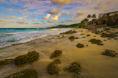 A beautiful evening on the beach in Long Bay, Portland, Jamaica.