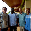 A humble and loving pastor (second from left) with a vision to reach his city for Christ