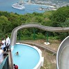 Mystic Mountain- at the top of the waterslide