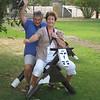 Pat Haddad (Columbia Shuswap) and Pat Sheach (Vancouver) - horsing around at O'Keefe Ranch - Vernon Jamboree 2011 ed