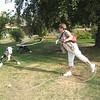 Pat Sheach (Vancouver) calf roping at O'Keefe Ranch - Vernon Jamboree 2011 edit