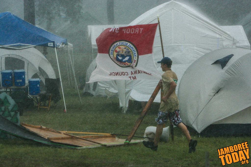 A Scout is Cheerful: It never rains at the Jamboree