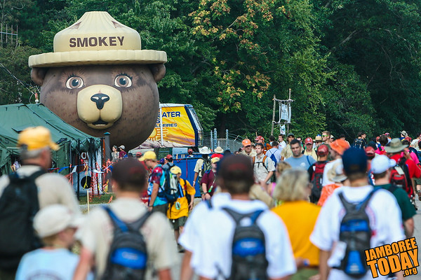 Smokey the Bear Watches Over Scouts