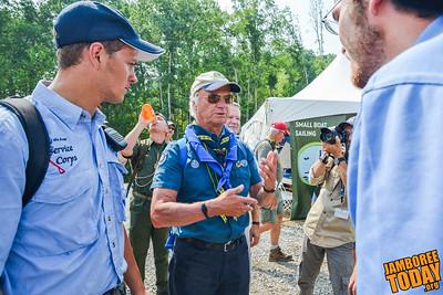 Swedish King Greets National Jamboree with Scout Handshake