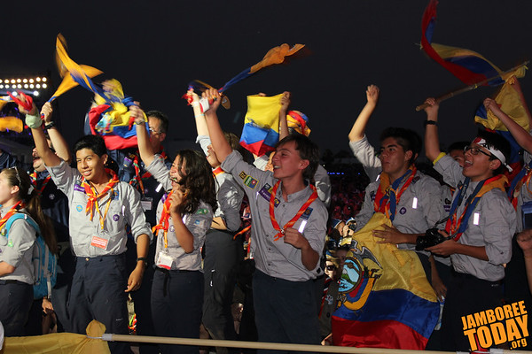 Ecuadorians Celebrate at the 2015 World Scout Jamboree