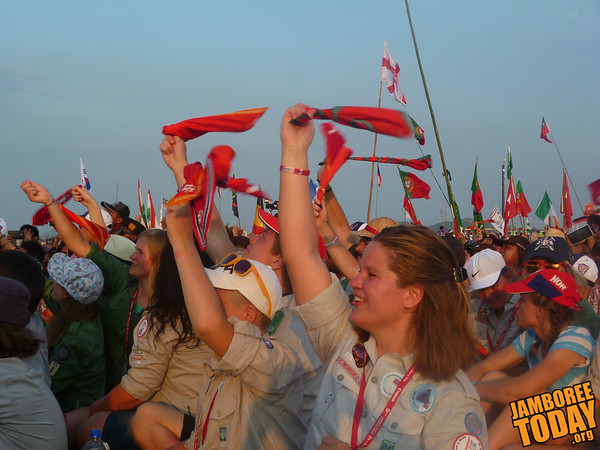 Norway Cheers at the 2015 World Scout Jamboree