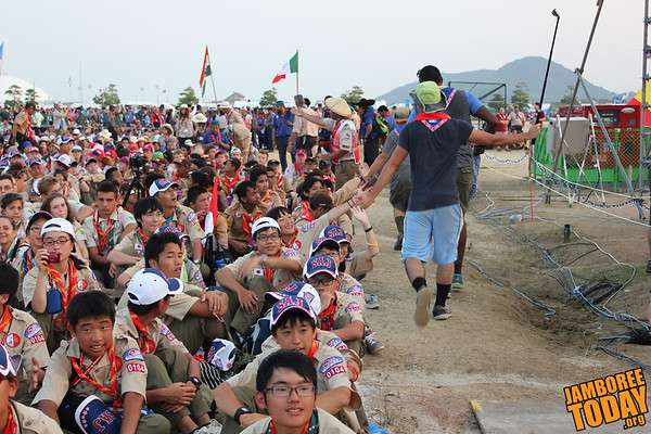 High Five at the 2015 World Scout Jamboree