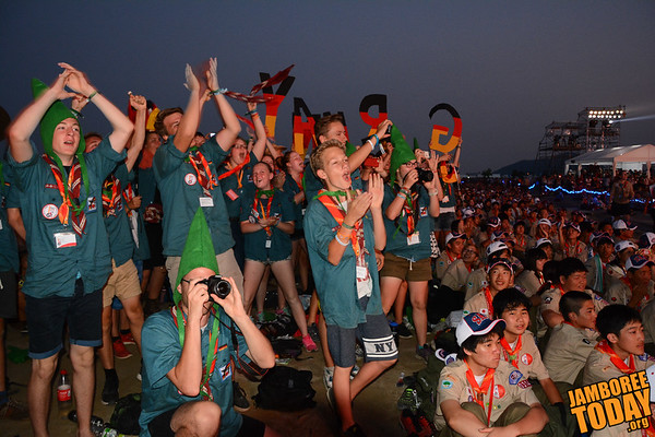 Germans Cheer at the 2015 World Scout Jamboree