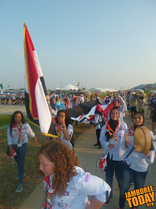 Egyptian Scouts at the 2015 World Scout Jamboree