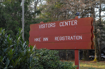 Bright and early the next morning, Wed. March 2, at the park Visitor Center for registration and the start of the hike.