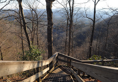 Part of the Approach Trail from the visitors center.  We didn't venture down it, but the guys would be hiking up it the following morning on their way to the official starting point of the AT.