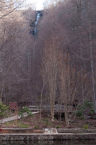The Upper Falls as seen from the reflecting pool near the visitor center.